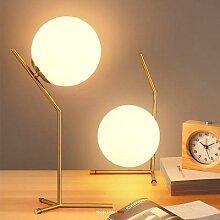 Lampe de bureau Led en forme de boule de verre,