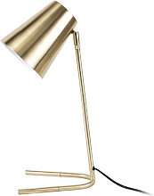 Lampe de bureau or brossé orientable Noble