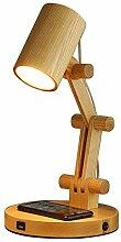 Lampe de bureau Swing Bras de bois E27 Lampe de