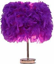 Lampe de chevet à plumes - Lampe de chevet