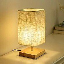 Lampe de Chevet Abat-jour Tissu, Lampe Chevet de
