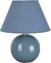 Lampe de chevet bleue