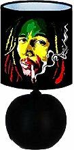 Lampe de chevet BOB MARLEY - création artisanale