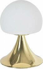 Lampe de chevet champignon tactile laiton
