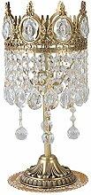 Lampe de chevet Élégant cuivre cristal Lampe de
