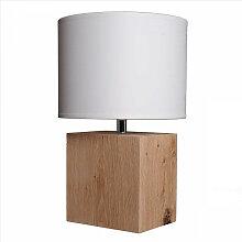 Lampe de chevet en bois brut