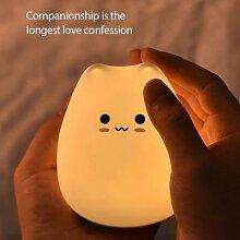 Lampe de chevet en Silicone avec capteur tactile,