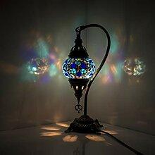 Lampe de chevet en verre mosaïque marocaine avec