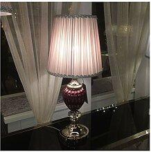 Lampe de chevet K9 cristal Accent Lampe de table