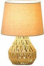 Lampe de chevet Lampe de bureau de corde de