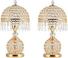 Lampe de chevet Lampe de table de cristal de luxe