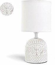 Lampe de Chevet, Lampe en Céramique, Corps Blanc