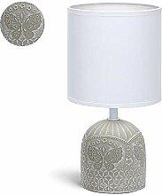 Lampe de Chevet, Lampe en Céramique, Corps Gris