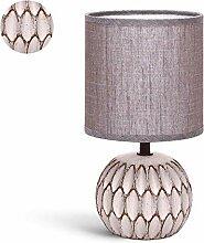 Lampe de Chevet, Lampe en Céramique, Couleur Brun