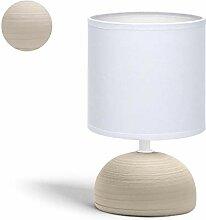 Lampe de Chevet, Lampe en Céramique, Semi-ovale