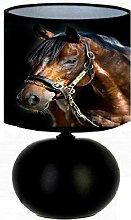 Lampe de chevet le cheval marron - création