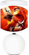 Lampe de chevet LE ROI LION - création artisanale