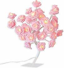 Lampe de Chevet Led Rose Fleur Arbre Night Light