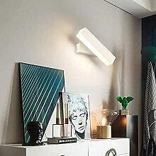 Lampe de chevet miroir mur à mur, abat-jour à