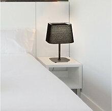 Lampe de chevet noire avec diffuseur