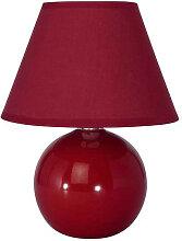 Lampe de chevet rouge cerise