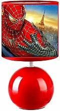 Lampe de chevet rouge - Spiderman - création