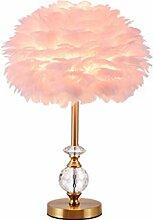Lampe de chevet Table de chevet lampe à plumes