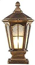 Lampe De Colonne De Borne De Verre En Aluminium