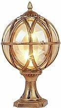Lampe De Colonne De Lanterne En Verre De 32Cm,