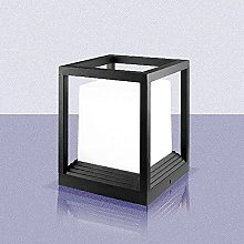 Lampe De Colonne Extérieure En Forme De Cube,