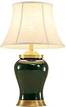 Lampe de cuivre décorative Vintage Vert