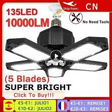 Lampe de Garage à LED 38W 80W 100W, lampe pliante