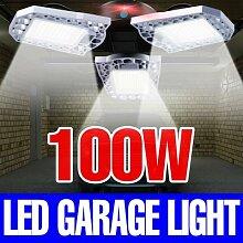 Lampe de Garage LED 100W E27, lampe déformable,
