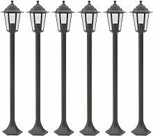 Lampe de jardin à piquet 6 pcs E27 110 cm