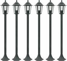 Lampe de jardin a piquet 6 pcs E27 110 cm