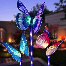 Lampe de jardin solaire à forme de papillon, 3