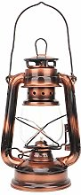 Lampe de kérosène en bronze, fer + verre fort et