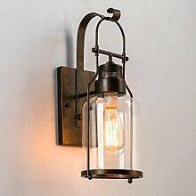 lampe de mur rural chambre couloir chevet en verre