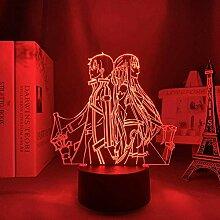 Lampe de nuit 3D Anime Illusion Lampe Anime Sword