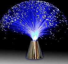 Lampe de nuit à fibre optique LED multicolore
