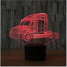 Lampe de nuit de camion 3D 7 couleurs