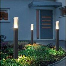 Lampe de pelouse moderne en aluminium, piliers,