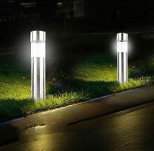 Lampe de pelouse solaire en acier inoxydable LED