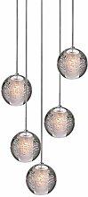 Lampe De Pendentif En Verre De Cristal LED, Lampe