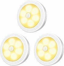 Lampe de Placard/Armoire LED,3pcs Lampes Armoire