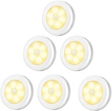 Lampe de Placard/Armoire LED,6pcs Lampes Armoire