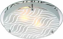 Lampe de plafond abat-jour en verre chambre à