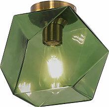 Lampe de plafond design en verre Vert
