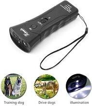 Lampe de poche ultrasonique pour chiens, répulsif