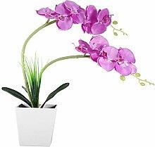 Lampe de Pot de Fleur Artificielle, 9LED